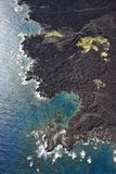 Aerial of coastline Stock Photography