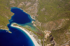 Aerial coastline Fethiye oludeniz Stock Photo
