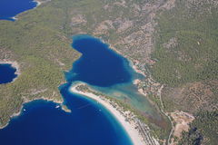 Aerial coastline  Royalty Free Stock Image