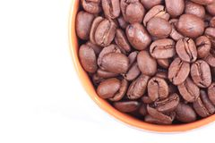 Aerial coffee beans Royalty Free Stock Photo