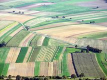 Aerial color pattern fields  Royalty Free Stock Photos