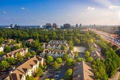 Free Aerial Condos In Atlanta Suburbs Just Next To Highway GA 400 Stock Image - 158693981