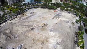 Aerial construction site in Coconut Grove stock video