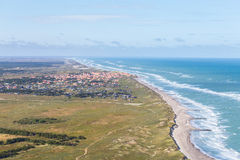 Aerial and costal view of old (gammel) Skagen,Denmark. Aerial and costal view of old (gammel)Skagen,Denmark.Beautiful aerial view of Old stock photo