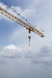 Aerial crane and cloudscape. Aerial industrial crane with cloudscape background Stock Images