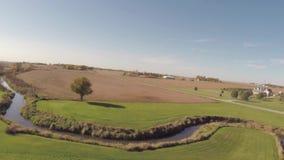 Aerial creek stock video footage