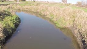 Aerial creek stock footage