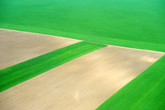 Aerial of crop fields Royalty Free Stock Images