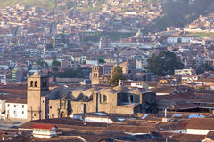 Aerial Cusco city view on Plaza de Armas, Peru Royalty Free Stock Image