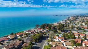 Aerial Dana Point taken from Capistrano Beach stock photos