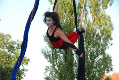 Aerial dance Stock Photography