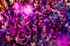 Aerial of dance party Royalty Free Stock Photography