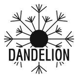 Aerial dandelion logo icon, simple style. Aerial dandelion logo icon. Simple illustration of aerial dandelion vector icon for web Stock Image