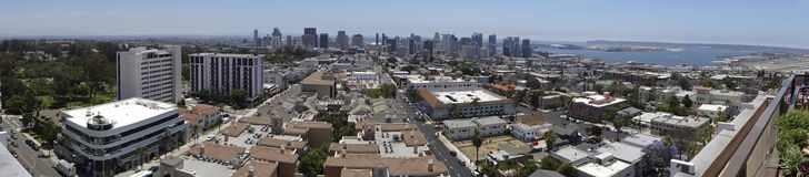 An Aerial Day View of San Diego stock image