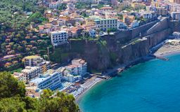 Aerial daytime view of Sorrento, Amalfi coast, Italy stock image