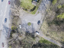 Aerial of a dead end road Royalty Free Stock Photos