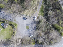 Aerial of a dead end road Royalty Free Stock Image