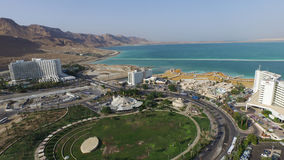 Aerial dead sea at hotels area in Israel Stock Image