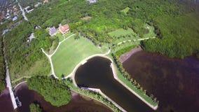 Aerial Deering Bay stock video footage