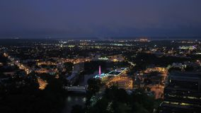 Aerial Delaware Wilmington July 2017 Night 4K Inspire 2. Aerial video of downtown Wilmington at night stock footage