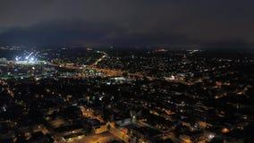 Aerial Delaware Wilmington July 2017 Night 4K Inspire 2. Aerial video of downtown Wilmington at night stock video footage