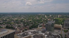 Aerial Delaware Wilmington July 2017 Sunny Day 4K Inspire 2. Aerial video of downtown Wilmington on a sunny day stock footage