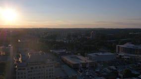 Aerial Delaware Wilmington July 2017 Sunset 4K Inspire 2. Aerial video of downtown Wilmington at sunset stock footage
