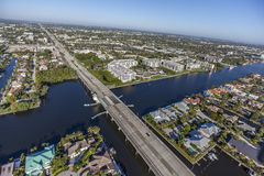 Aerial Delray Beach, Florida. Aerial, Bird Eye View from Delray Beach, USA Royalty Free Stock Image