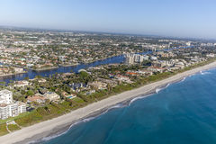 Aerial Delray Beach, Florida. Aerial, Bird Eye View from Delray Beach, USA Stock Photos