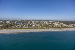 Aerial Delray Beach, Florida. Aerial, Bird Eye View from Delray Beach, USA Stock Photography
