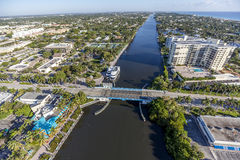 Aerial Delray Beach, Florida. Aerial, Bird Eye View from Delray Beach, USA Royalty Free Stock Photos