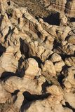 Aerial desert canyon. Royalty Free Stock Images