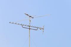 Aerial digital television radio antenna Stock Photo
