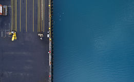 Aerial of a dock Stock Photos