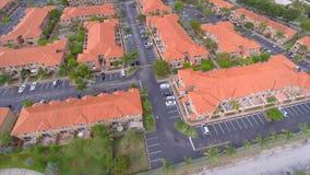 Aerial Doral Florida flyover 2 stock footage