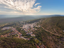 aerial Dorf von Alte, Loule-Region Stockbilder