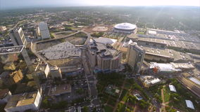 Aerial Downtown Atlanta drone video Stock Photography
