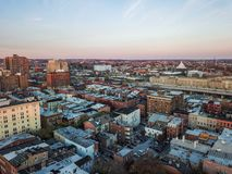 Aerial of Downtown Baltimore, Maryland from The Mount Vernon Place royalty free stock photos