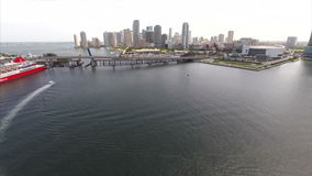 Aerial Downtown Miami drone Royalty Free Stock Image