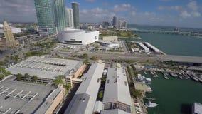 Aerial Downtown Miami 4k stock footage