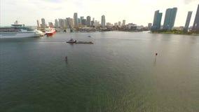 Aerial Downtown Miami stock video