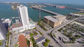 Aerial Downtown Miami stock footage