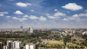 Aerial of downtown Nairobi, Kenya Stock Image