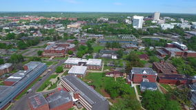 Aerial Downtown Tallahassee FL and college campuses