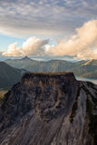 Aerial Dreamy Mountain Landscape of British Columbia Stock Photography
