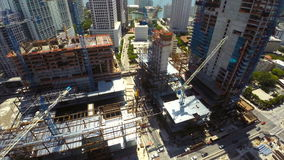 Aerial drone Brickell City Center Royalty Free Stock Photography