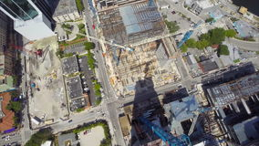 Aerial drone Brickell City Center stock footage