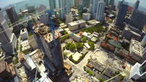 Aerial drone Brickell City Center stock video footage