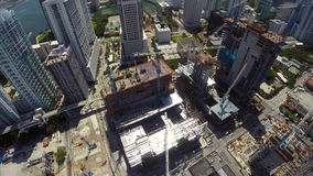 Aerial drone Brickell City Center stock video
