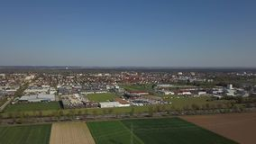 Haunstetten, a suburb of Augsburg in Germany stock video footage